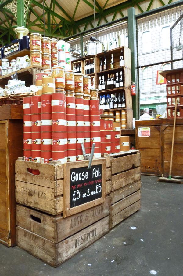 Konserven auf dem Londoner Borough Market