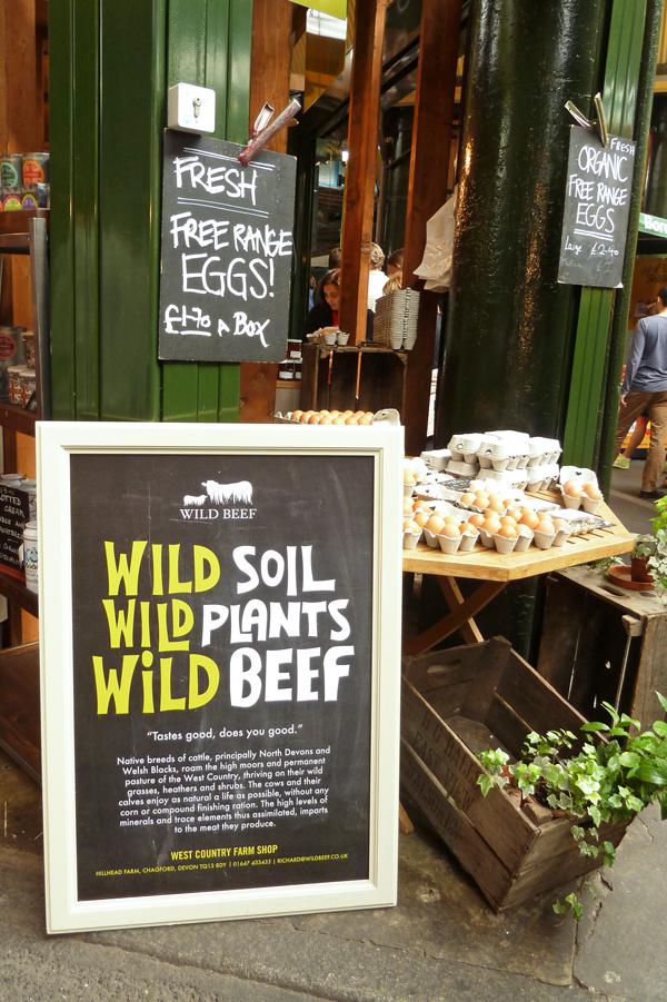 Fleischstand auf dem Londoner Borough Market