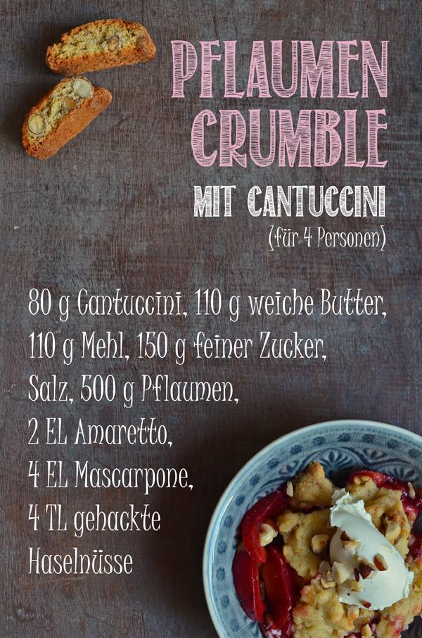 Rezept für Pflaumen-Crumble mit Cantuccini-Streuseln