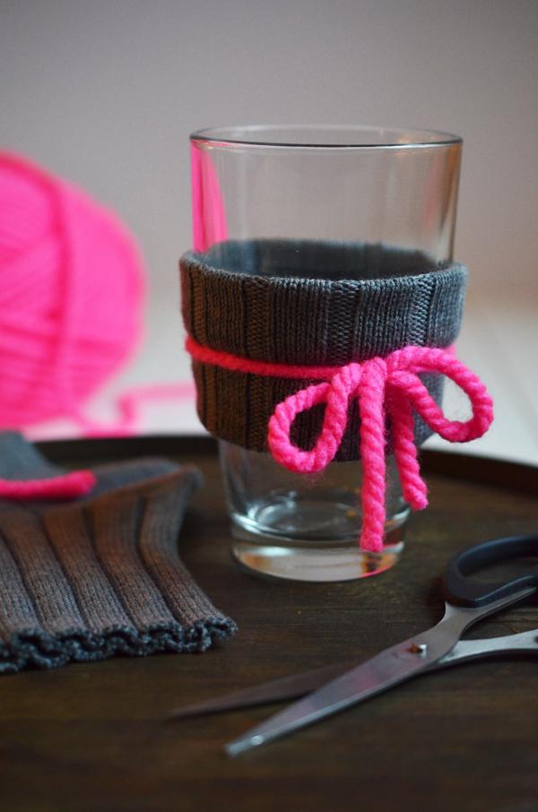 DIY für Glasstulpen aus Wolle (ohne Stricken)