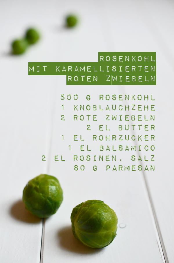Rezept für Rosenkohl mit karamellisierten roten Zwiebeln (www.rheintopf.com)
