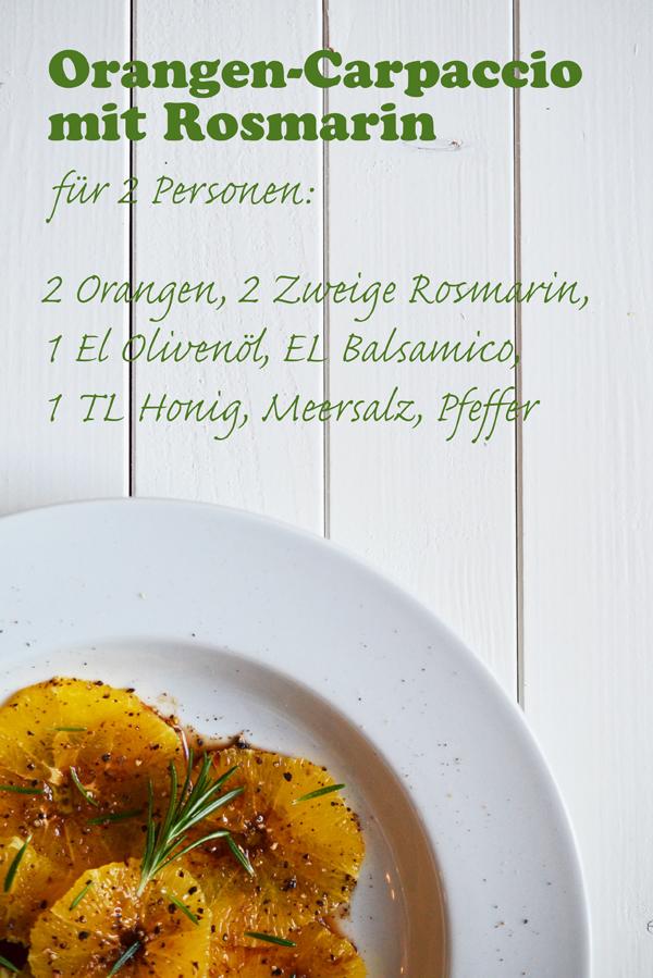 Rezept für Orangen-Carpaccio mit Rosmarin