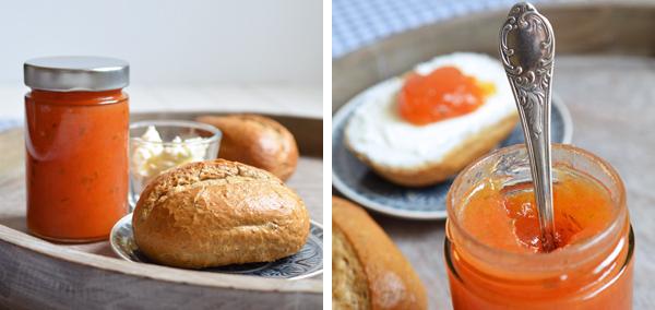 Sommer im Glas: Konfitüre aus Cavaillon-Melonen, Tomaten und einem Hauch Rosmarin