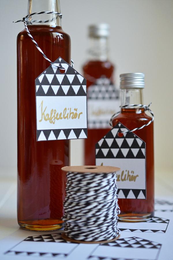 Kafffeelikör und Geschenk-Etiketten selber machen