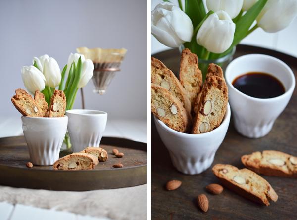 Mandel-Kardamom-Biscotti als Gebäck zum Kaffee