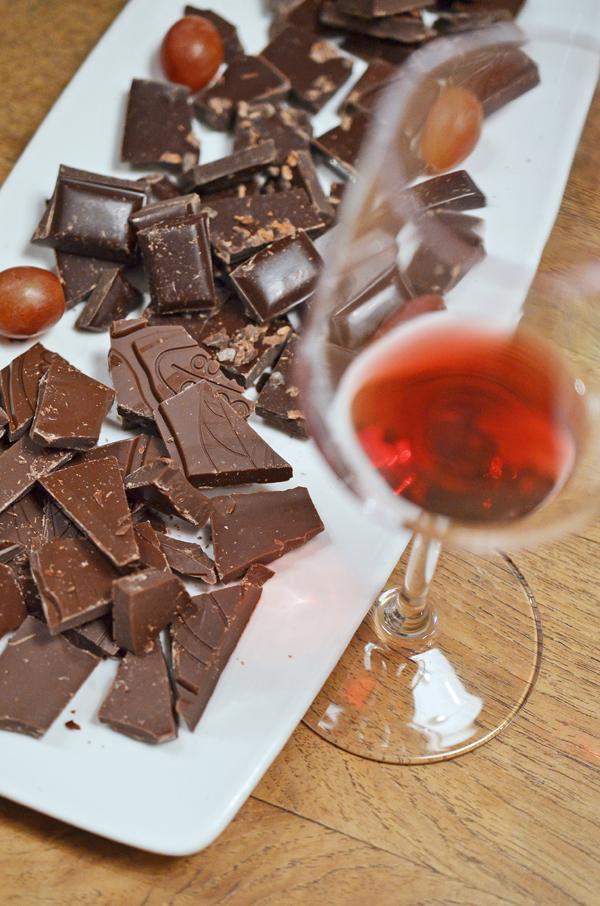 Rotwein zu Schokolade