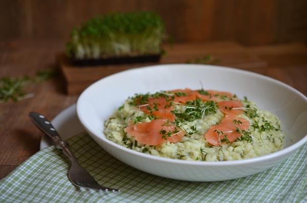 Kräuter-Risotto mit Lachs: Ein leckeres Rezept für den Frühling!